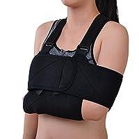 MagiDeal Arm Sling Shoulder Immobilizer– Rotator Cuff Support Brace – Ergonomic Adjustable Black Strap For Men, Women