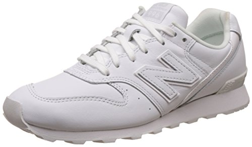 New Balance Damen Sneaker, Weiß (White), 41 EU (7.5 UK) (Suede Collection Trainer)