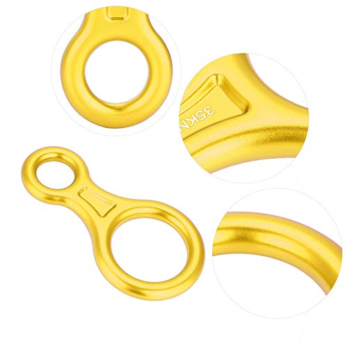 Zyyini arrampicata 8 anelli, lega di alluminio 35kn figura 8 discensore corda per dispositivo di arrampicata in discesa(# 3)
