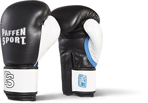 Paffen Sport Gel Boxhandschuhe für Das Training; schwarz/weiß/Aqua; 10UZ