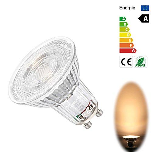 FORNORM GU10 LED Warmweiss Dimmbar, LED Glühbirne LED Lampe Ersetzt 35W, 36°Strahlwinkel, AC 230V 5W, 450LM, 3000K, 1er Pack (Lutron-licht-schalter)