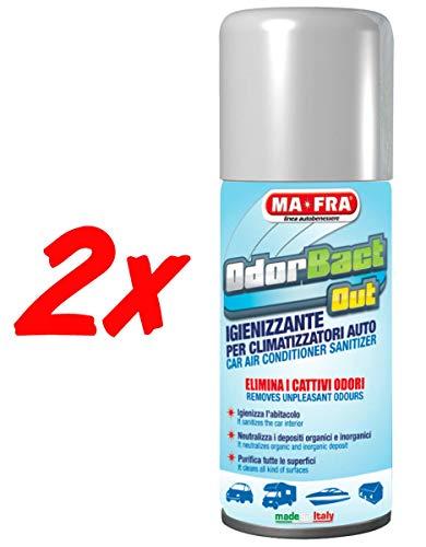 H.T. 2X ODORBACT Odor bact igienizzante condizionatori Auto Macch