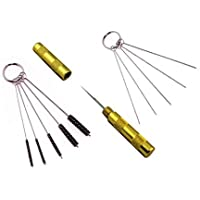 ABEST–Juego de herramientas para la limpieza y la reparación de aerógrafos, con cepillos y aguja de acero inoxidable, 3unidades.