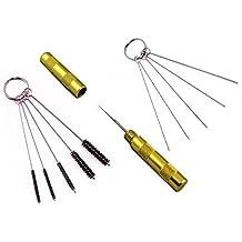 ABESTAIR juego de 3 utensilios para limpieza y reparación de aerógrafos, aguja de acero inoxidable