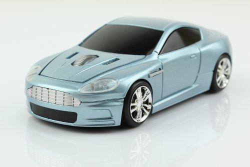 UrChoiceLtd® 2.4GHz Wireless Car Mouse | Aston Martin Shaped Optical & Ergonomic Design | Nano USB Receiver 1600DPI 10 Meter Range for Laptops & PCs Plug & Play
