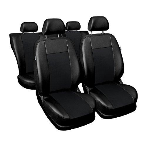 Preisvergleich Produktbild (SU-B) Universal Autoschonbezug-Set kompatibel mit BMW (1er, 2er, 3er, 5er, 7er, X3, X5, X6) (Öko-Leder und Alcantara)