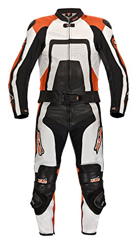 Combinaison 2 pièces en cuir haut de gamme noir pour kTM xLS-orange de 48 taille 46 50 52/54/56/58 60