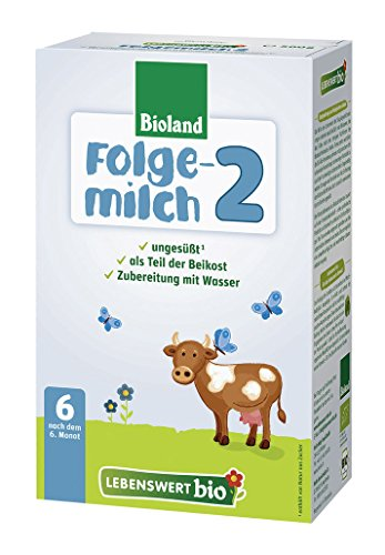 Lebenswert Bio Folgemilch 2, Bioland, 500 g (1 x 500 g)