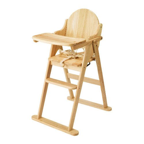 East Coast Folding Highchair (Natural All Wood) Best Price and Cheapest