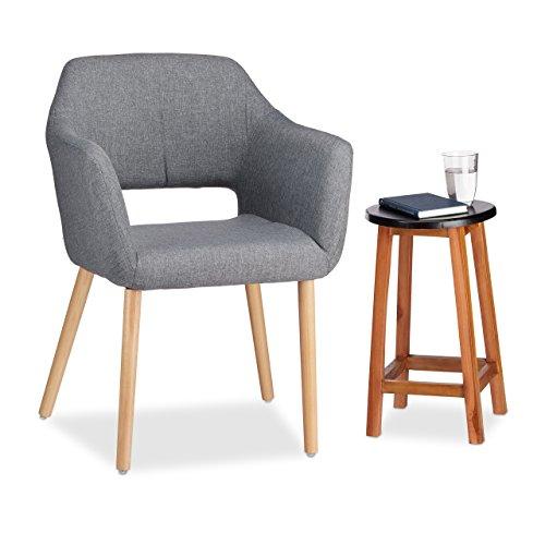 Relaxdays Designer Gepolsterten Sessel, Stoffbezug, Weiche Polsterung, Bequem, HxBxT 84x 62x...