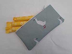Handmade Oilcloth Tampon Case Holder - Sophie Allport Runner Duck Fabric