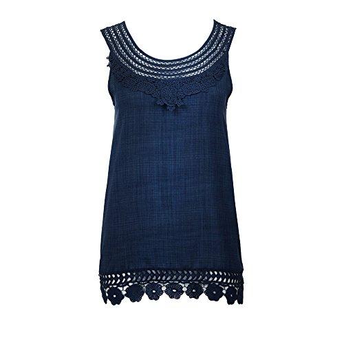 (Yvelands Bekleidung Vest Sommer Damen Mode Boho Böhmische Retro Elegante Einfarbig Troddel Breathable Ärmellose Baumwolle Weste Tops)
