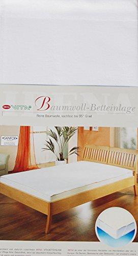 5516 Ibena Wasserdichte Betteinlage ca. 90x150 cm reine Baumwolle für optimalen Schlafkomfort