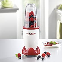 Gourmetmaxx Mr. Magic smoothiemaker, batidora, 250 W, color rojo y blanco
