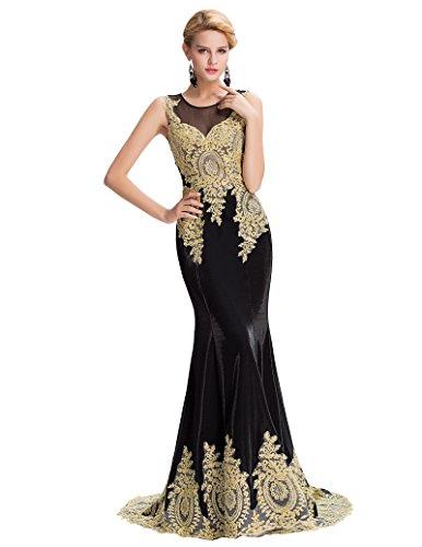 damen brautjungfernkleid ärmellos hochzeitskleid festliches kleid abendkleider GK026-4 44