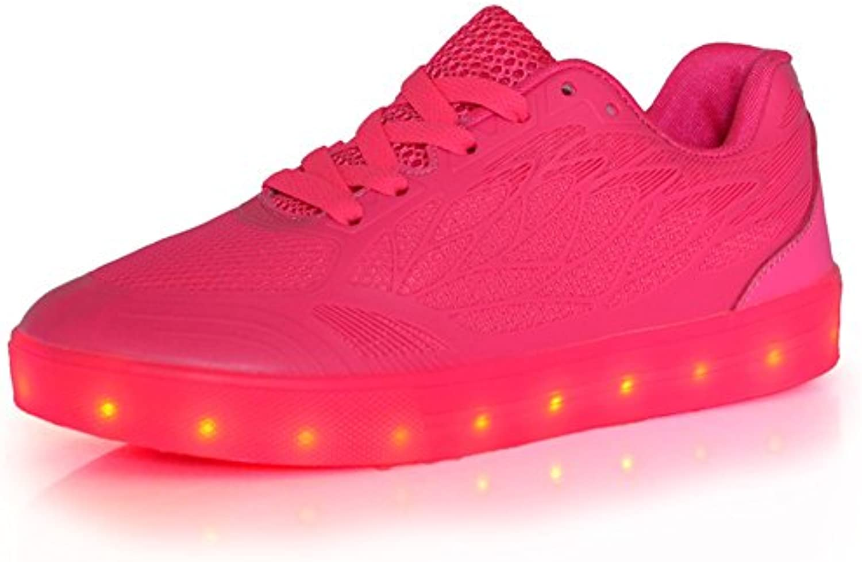 Zapatos de Hombre Tulle Spring Zapatos de Otoño Light Up Comfort Sneakers LED de Tacón bajo con Cordones para