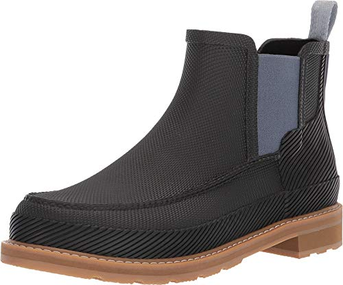 Hunter Men's Original Seaton Moc-Toe Chelsea Hunter Black/Gum 9 M US Gore Moc
