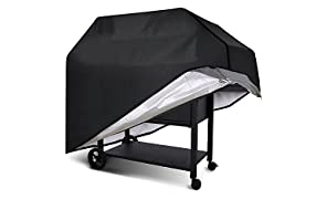 AISOUL Barbecue Cover, Durable BBQ Grill Cover with Heavy-Duty Weather Resistant Fabric, Waterproof, Large 145cm (Black)