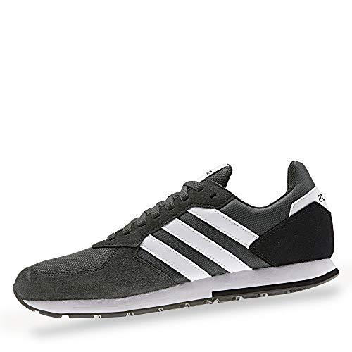 adidas F36889 8K Herren Sneaker aus Nylonmesh mit Besätzen herausnehmbare Sohle, Groesse 40 2/3, anthrazit (Anthrazit Schuhe Herren)