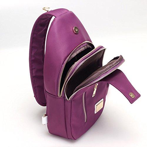 Ladies singola borsa a tracolla,messenger bag,borsa di tela-porpora porpora