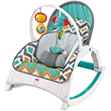 Fisher-Price Original Infant to Toddler Baby Rocker Glacier Wave Theme - Foldable, Portable