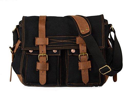 sechunk-unisex-canvas-genuine-leather-cross-body-bag-handbag-black