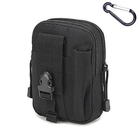Mcdobexy Wasserdichte Militär Taktische Molle EDC Telefon Tasche Taille Pack Utility Gadget Gürtel Taille Tasche mit extra Metall Karabiner