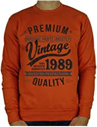 9565aebca2b70 My Generation Gifts 1989 Vintage Year - Aged To Perfection - Regalo di  Compleanno per 30 Anni…