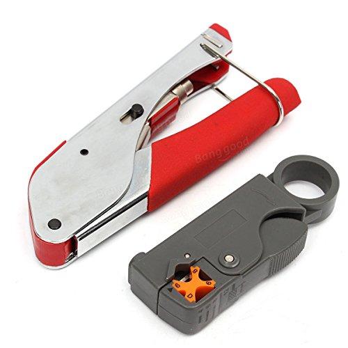 Preisvergleich Produktbild Werkzeug Koax RG59RG6F Schlauchverbinder-Crimper Kabel-Kit