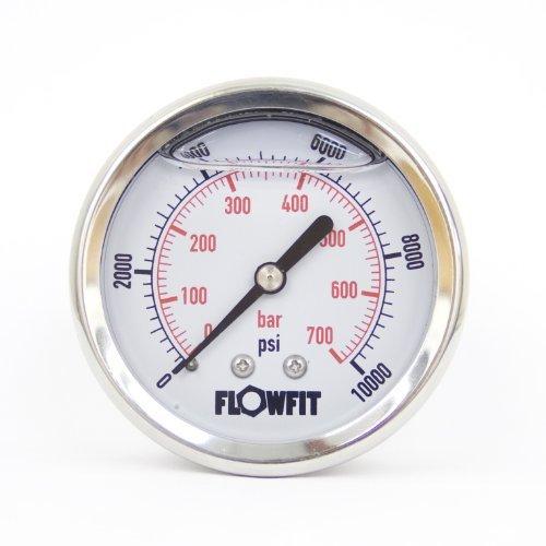 63mm Glicerina Filled idraulico manometro 0-10000PSI (690bar)