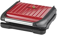 George Foreman Steel Grill Medium,Red - 25040