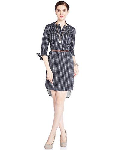 Park Avenue Woman Cotton Tunic Dress (PWEA00431-W1_White_76)