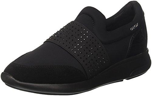Geox d ophira a, scarpe da ginnastica basse donna, nero (black), 37 eu