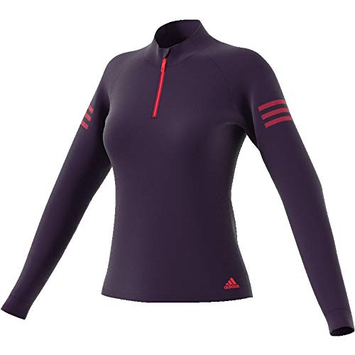 adidas Damen Club 1/4 Zip Midlayer Tennis Top M Legend Purple -