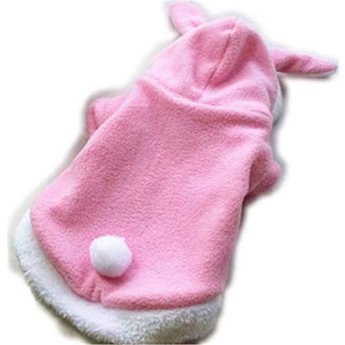 Niedliche Katzenhunde-Kleidung Osterhasen-Tiere Anzug-Kleidung für kleine Hund Kostüm Fleece Warm Dog ()