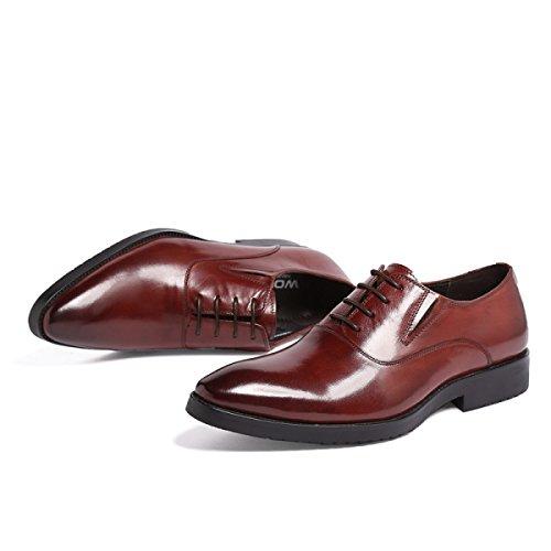 GRRONG Chaussures En Cuir Pour Homme Pieds En Cuir Rétro En Cuir Sont Confortables brown
