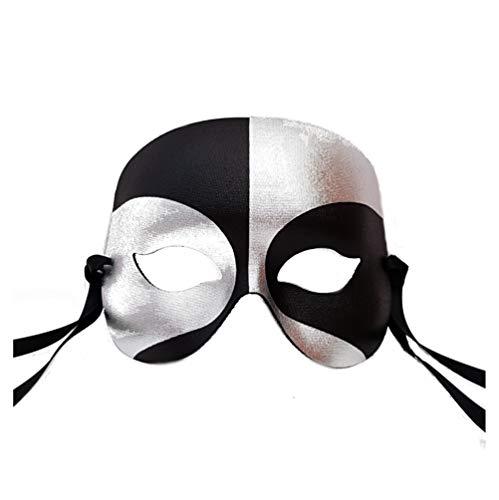 Schwarz und Silber Roboter Männer Venezianische faschingsmasken Maskerade maskenball maske herren - Erstklassige Qualität, in Italien ()