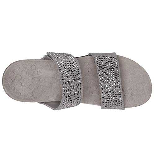 Vionic Womens 341 Rest Samoa Leather Sandals pewter