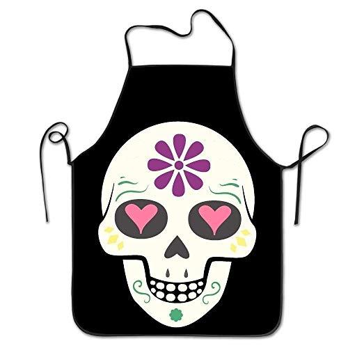Preisvergleich Produktbild Unisex Sugar Skull Lock Edge Cooking Apron for Women Men Chef