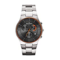 Skagen Herren-Armbanduhr XL Chronograph Quarz Titan SKW6076
