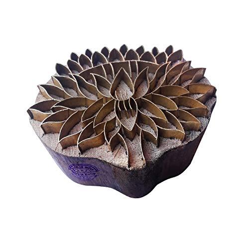 Royal Kraft Designer Drucken Stempel Messing Lotus Designs Hölz Keramik Blöcke - Holz Ton Block