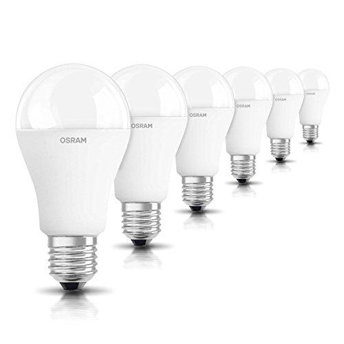 OSRAM LED STAR Ampoule LED, Forme Classique, Culot E27, 14,5W Equivalent 100W, 220-240V, dépolie, Blanc Froid 4000K, Lot de 6 pièces