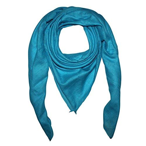 Superfreak Baumwolltuch - Tuch - Schal - 100x100 cm - 100% Baumwolle, Farbe türkis