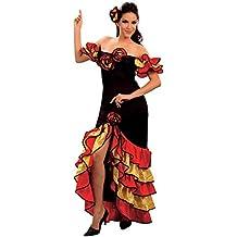 Xmas - Disfraz de sevillana para mujer, talla UK 10 - 14 (AC595)
