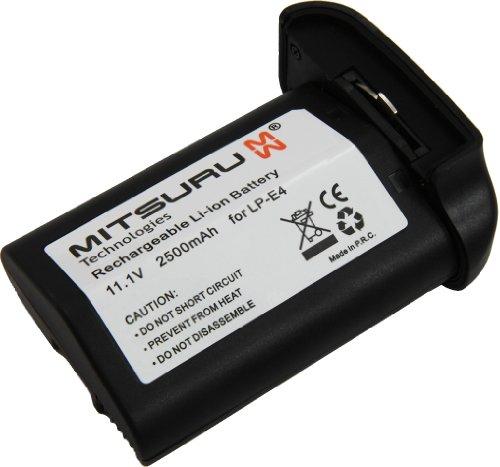 Galleria fotografica Bateria Mitsuru® 2500mAh per Canon LPE4 LP-E4 LP-E4N , e Canon EOS 1D C , 1D Mark III , 1D Mark IV , 1D X , 1Ds Mark III