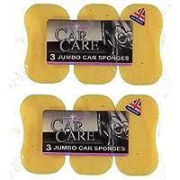 Super Bright: Car Care, Car Wash, Window Cleaning (3 x jumbo car sponges), 2 Pack