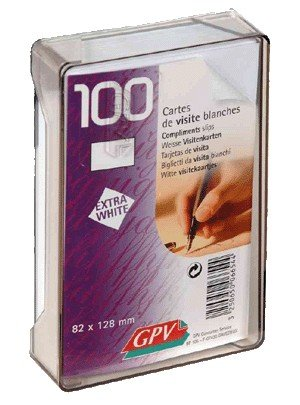 Gpv 38369 Carte Visite Bristol 82 X 128mm Plastique Assorties