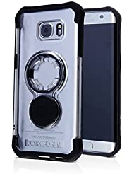 Rokform Samsung Galaxy S7 EDGE Crystal Series Slim and Rugged Protective Phone Case with Patented twist lock mount and universal magnetic car mount. (Clear/Black)