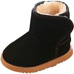 Culater® Inverno del bambino del bambino cotone stile stivali da neve caldo (21, Nero)