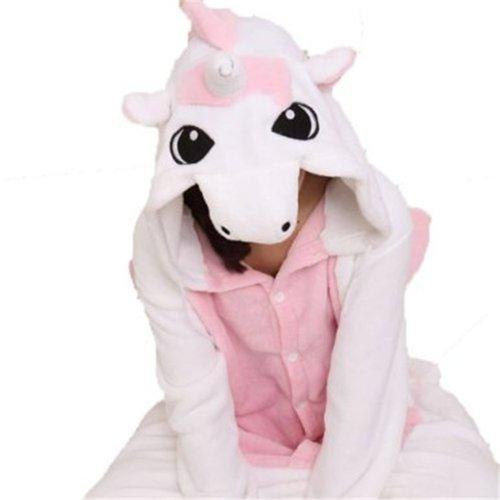 Amour-Sleepsuit Pyjamas Kostüm Cosplay Homeware Lounge Größe passt S/M/L/XL (m, rosa Einhorn)